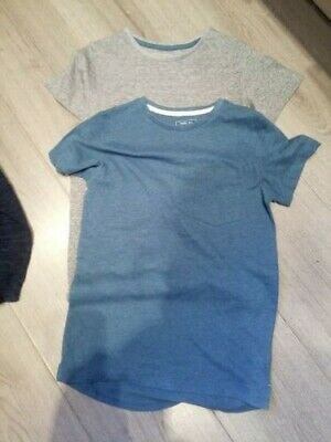 ++Two Boys Next T Shirts Grey And Blue Age 9++