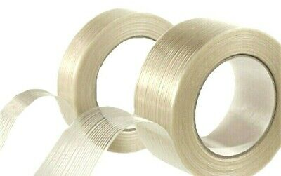 """Fiberglass Filament Reinforced Tape 3/4"""" 1"""" 2"""" x 60 Yards Strapping Packaging"""