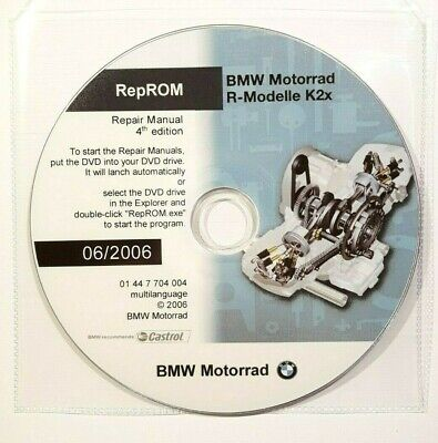 DVD MANUALE OFFICINA REPROM K2X WORKSHOP BMW R1200GS-R-RT-S-ST,HP2,R900RT 06 prm