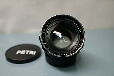 Petri Orikkor,Kuribayashi,50mm/f2 lens in m42,collector's grade,near mint