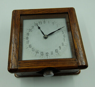 Very Rare Wooden 24H Ussr Russian Soviet Submarine Navy Marine Ship Wall Clock