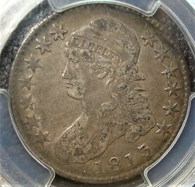 1813 Silver Capped Bust Half Dollar Graded by PCGS in VF 30