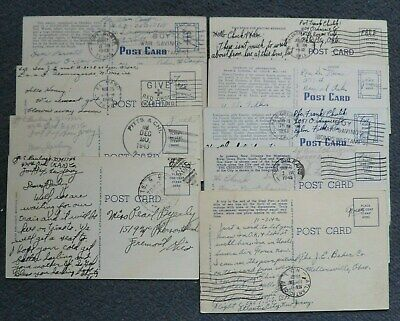 World War II Free Military Postage Postmarked Postcards (9)