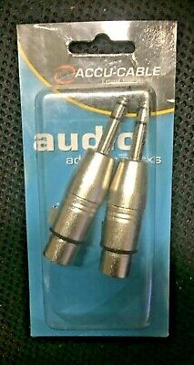 """Accu Cable Female 3 pin XLR to Male1/4"""" adapter"""
