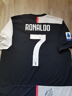 Maglia Authentic Ronaldo Juventus 2019 20, No Match Worn O Player Issue Signed