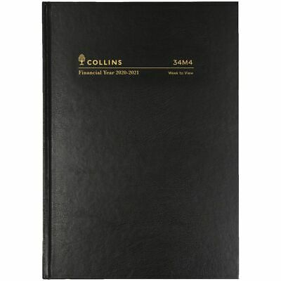 Collins A4 Week to View FY20/21 Diary Black