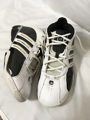Details about Men's Adidas AdiPRENE Climacool BlueWhite Leather Basketball Shoes Size 10.5