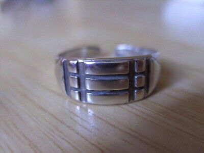 Atlantis ring,Adjustable,Talisman,solid Sterling silver P1/2-S1/2. Hand made