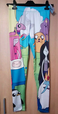 Adventure Time Leggings Hot Topic Mighty Fine Small NEW with tags Cosplay Gym