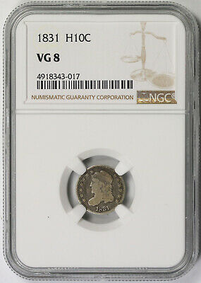 1831 Capped Bust Half Dime Silver H10C VG 8 NGC