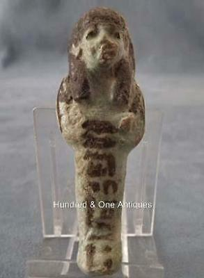 Ancient Egyptian New Kingdom Ushabti with Hieroglyphs Script ca. 1570-1070 B.C