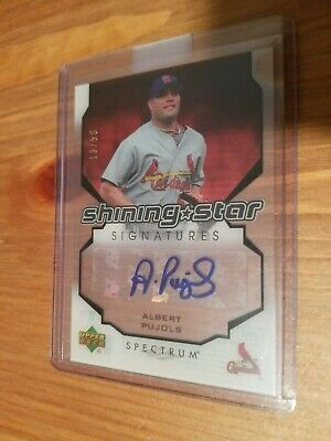 2007 Upper Deck Spectrum Baseball Shining Star Signatures 13/50 AUTO PUJOLS