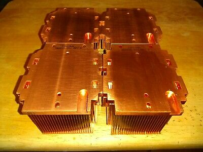 4 Copper HeatSinks weighing 6 Pounds 6.5 Ounces Scrap Metal