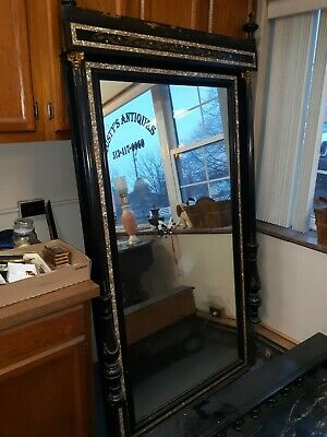 Extremely Rare Mother Of Pearl Victorian Pier Mirror