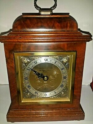 LOVELY BUR WALNUT BRACKET CLOCK BY ELLIOTT GARRARD & Co 112 REGENT ST LONDON