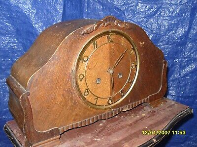 mantel clock parts NICE BIG  STRIKING  WORKING  CLOCK KEY AND  PENDULUM