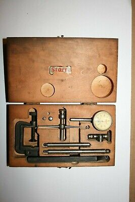 Starrett No. 196 Dial Indicator w/Box and Accessories