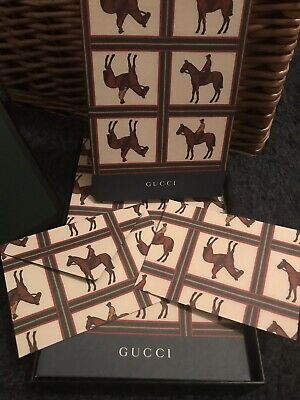 A Gift Set including a Gucci Notebook, Notecards & Envelopes