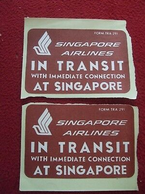 """#3627 Singapore Airline Gardens Travel Luggage Label travel 4x3/"""" Decal Sticker"""