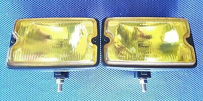 Peugeot 205 83>98 Yellow Driving Spot Light Lamp Pair Set & Bulbs