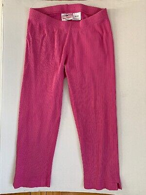 Hanna Andersson Girls Size 10 / 140 Pink Ribbed Leggings Capri 3/4 Length VGC