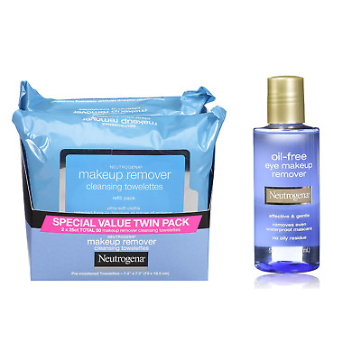 Neutrogena Cleansing Facial Wipes and Gentle Oil-Free Make-up Remover 5.5 FL Oz