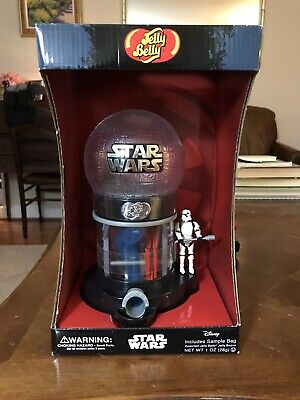 Star Wars Jelly Belly Machine Candy Gumball Dispenser W/ Stormtrooper Handle NIB
