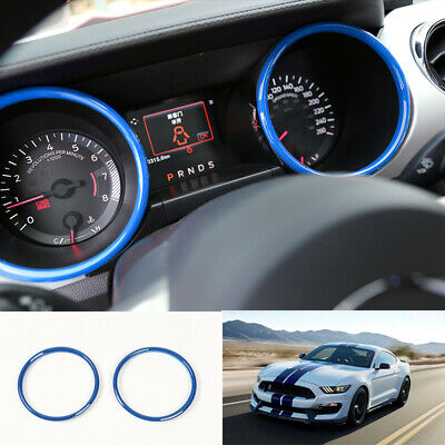Blue ABS Interior front dashboard ring trim For Ford Mustang 2015 2016-2018