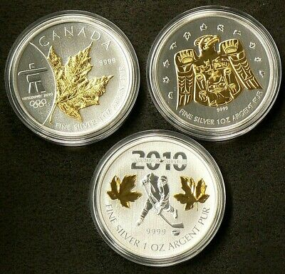 Vancouver 2010 Special Edition Olympic Coin Set Silver 99.99% #5568