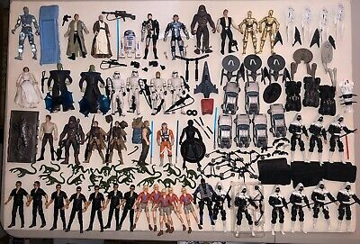 MIXED LOT Star WARS Jurassic Park TREK 3.75 4 Inch Action Figure And Die cast