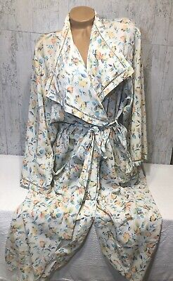 Victoria's Secret Vintage Robe Small/Petite Polyester Floral Gold Label Original