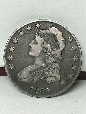 1836 Capped Bust Silver Half Dollar - Vg/F !