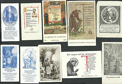 10 Estampas antiguas de San Francisco de Asis andachtsbild santino holy card