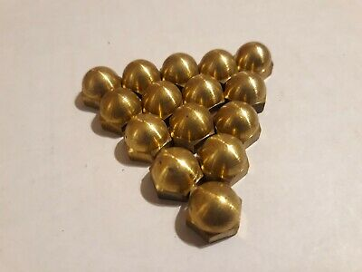1/4-20 Hex Cap Nuts Solid Brass Quantity 15