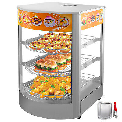 "14"" Commercial Pie Warmer Food Warmer Pizza Warmer Hot Display Showcase Cabinet"