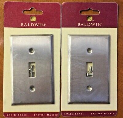 BALDWIN BRASS Single Toggle switch plate cover 4751 Solid BRASS sealed set of 2