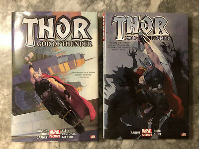 Thor: God of Thunder Jason Aaron Oversized Hardcovers Vol. 1 And 2 OOP