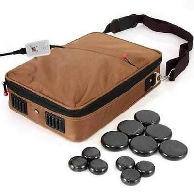 Hot Stone Massage Kit - Portable Heated Rock Therapy System with Digital Tempera