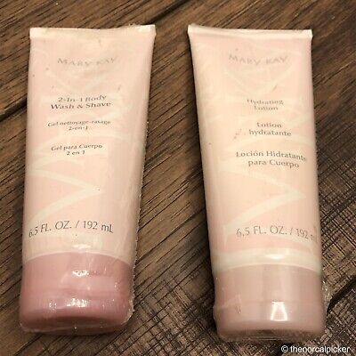Mary Kay Hydrating Lotion & 2 in 1 Body Wash & Shave Skin Care Product Bundle