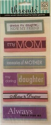 Mother & Daughter ~Fabric Dimensional Stickes~Me &My Big Ideas/Threads