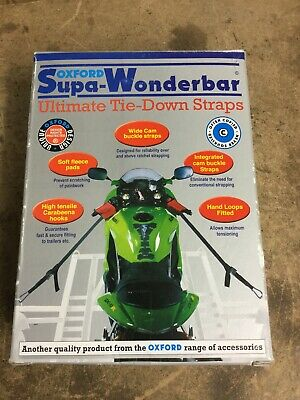 Oxford Motorcycle Supa Wonderbar Tie Down Straps NEW