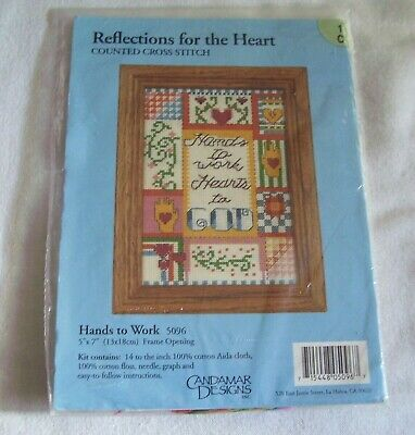 Candamar Designs - Reflections *Hands To Work Counted Cross Stitch Kit NIP 5096