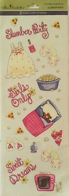 Girls Only Slumber Party ~ Clear Stickers ~ Miss Elizabeth