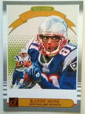 One (1) 2019 Donruss All-Time Gridiron Kings #13 Randy Moss New England Patriots