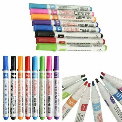 8 Colors Set Whiteboard Marker Pens Non-toxic Dry Erase Easy Wipe Gift for Kids
