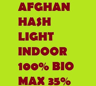 Afghan Hash Infiorescenza Legale Light Biologica Top Quality Indoor 35% 5g
