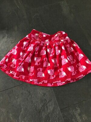 Next Age 3-4 Red Pink Cats Girls Skirt