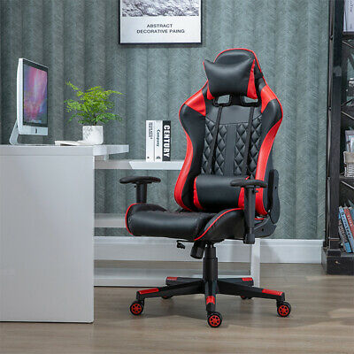 Office Chairs Swivel Gaming Racing Headrest Lumbar Support for PC Computer Desk