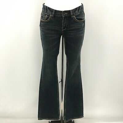 NEW TED BAKER Blue Straight Cotton Distressed Jeans Ladies UK 8 471394