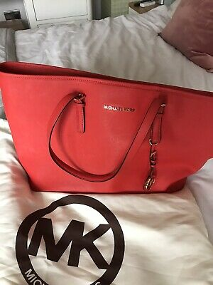 michael kors Jetset Tote Bag In Burnt Red